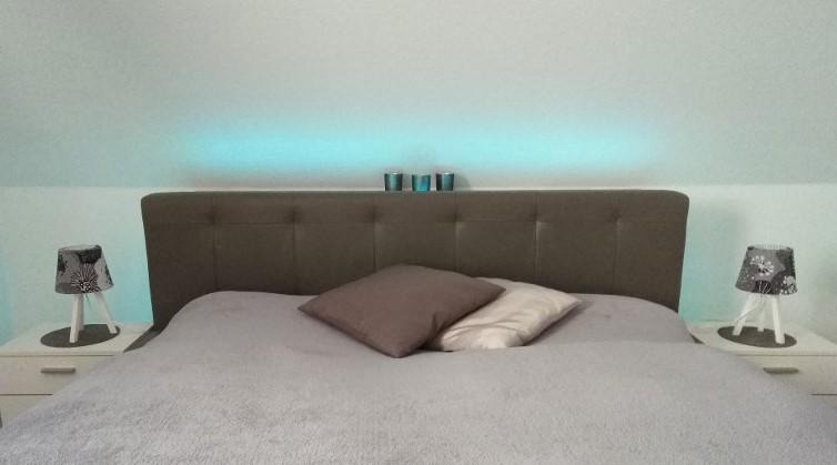 Dachschräge im Schlafzimmer