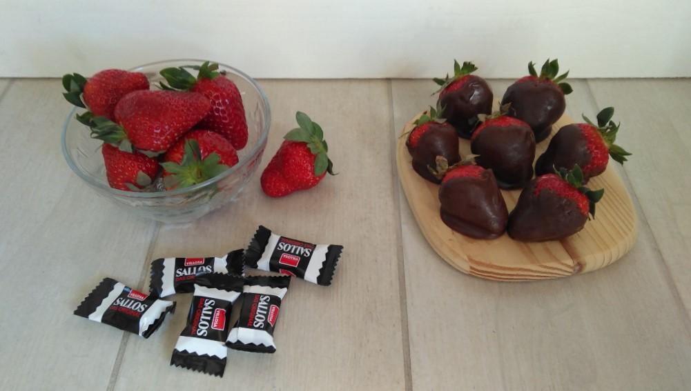 Lakritz-Schoko-Erdbeeren