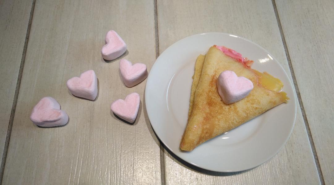 Pfannkuchen mit Marshmallows
